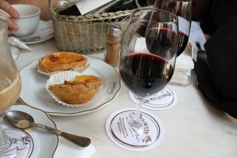 Pasteis de nata y Oporto Vintage