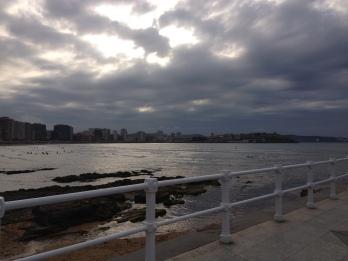 Puesta de sol en Gijón